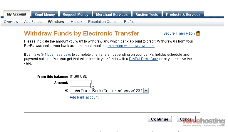 How to withdraw funds from your PayPal account