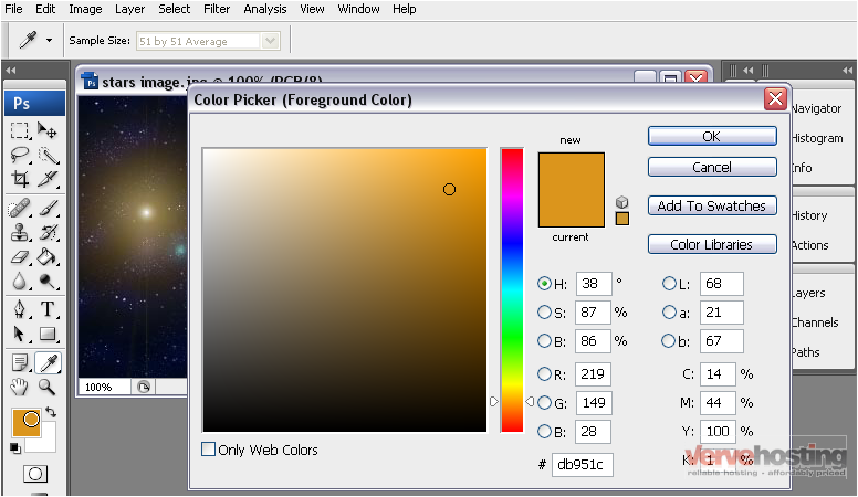 1 Click The Foreground Color