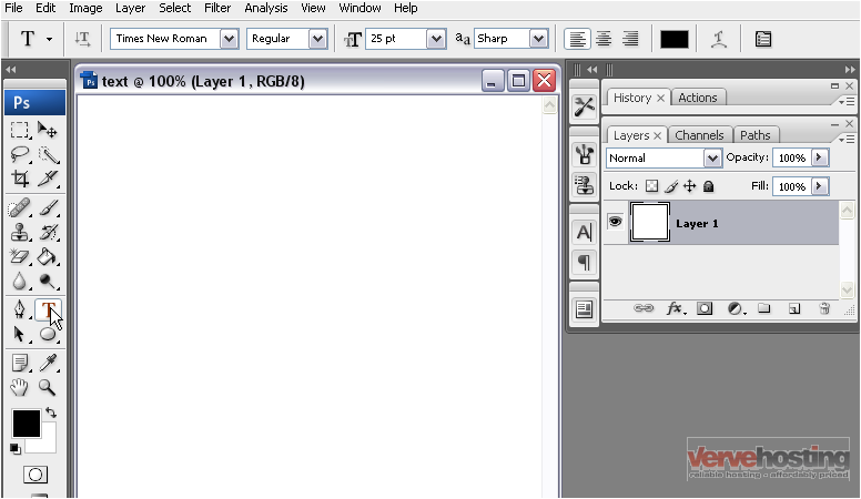 How to add text using the type tools in photoshop 1 select the type tool from the toolbar ccuart Gallery