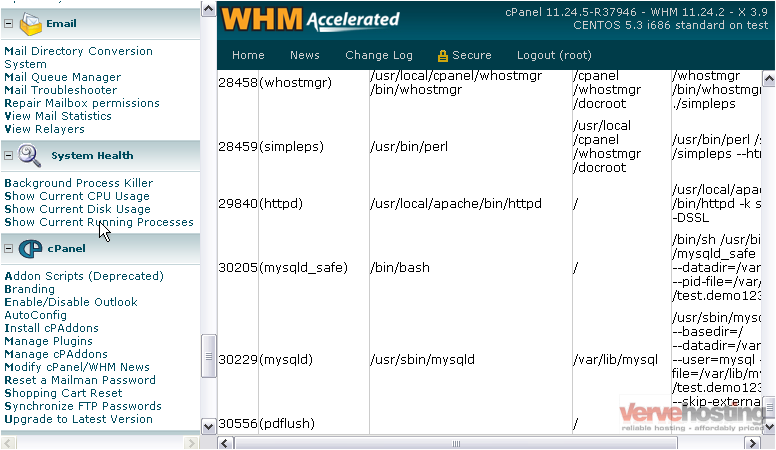 How to check your system s health with whm knowledgebase for Consul mysql health check